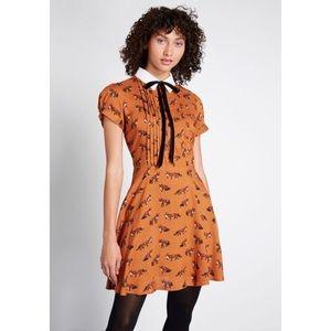 NWT. Hell Bunny Fox Dress. XL. Rusty orange.